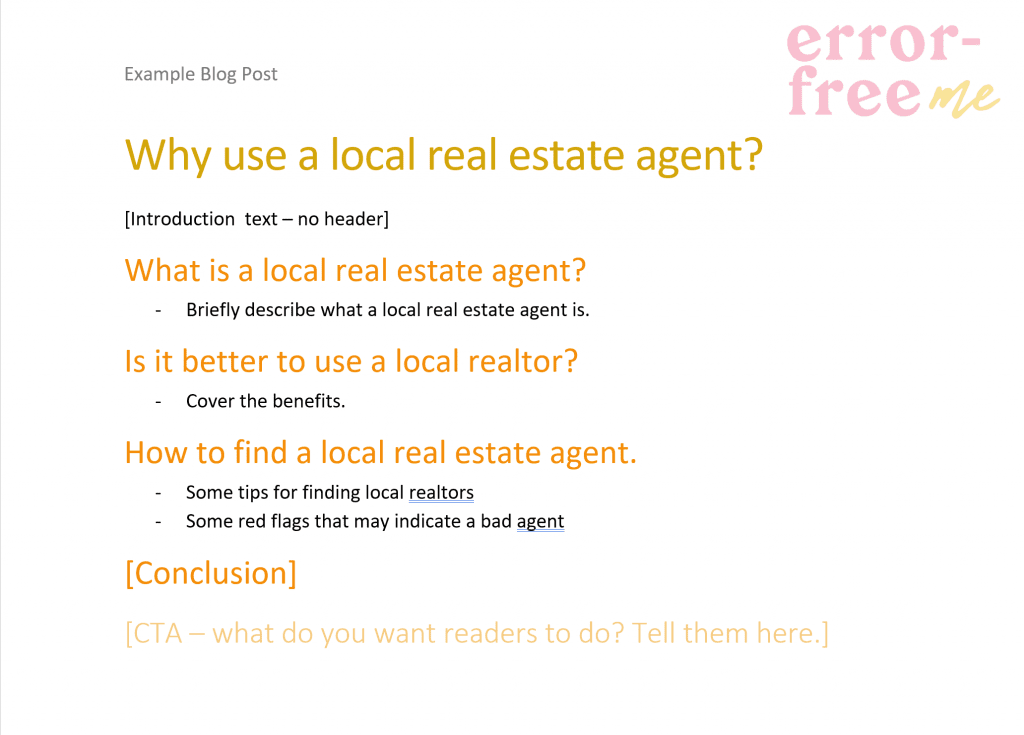 """Screenshot of a word doc with headers """"why use a local agent"""", what is a local agent, is it better to use one, etc."""